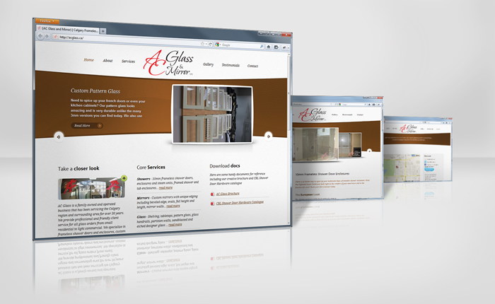 Site Launch – AC Glass and Mirrors gets a facelift